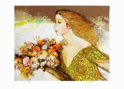 Femme à la robe verte-Sachiko Imai-Collectable Print