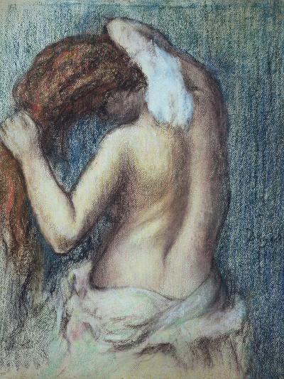 Femme a Sa Toilette, C.1895 (Pastel on Paper)-Edgar Degas-Premium Giclee Print