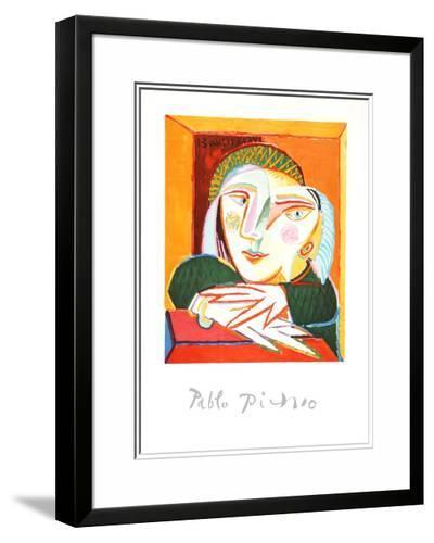 Femme Accoudee A Sa Fenetre-Pablo Picasso-Framed Art Print