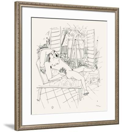 Femme Allongee-Louis Cane-Framed Limited Edition