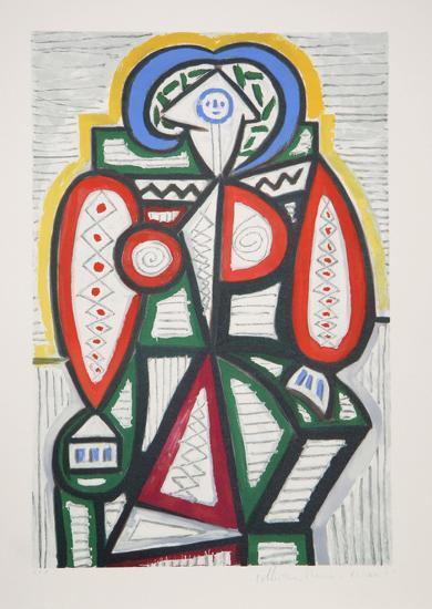 Femme Assise, 25-10-Pablo Picasso-Premium Edition