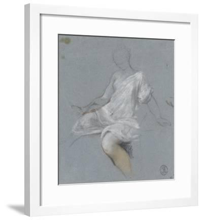 Femme assise, en chemise, tournée vers la gauche-Nicolas Vleughels-Framed Giclee Print
