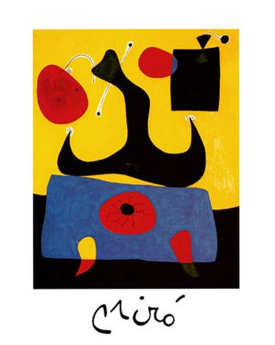 Femme Assise-Joan Mir?-Art Print