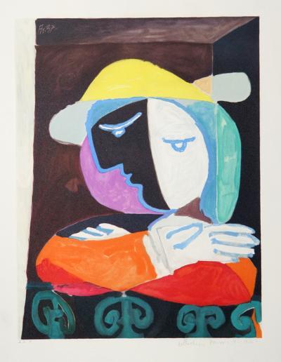 Femme au Balcon, 18-A-Pablo Picasso-Premium Edition