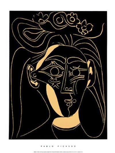 Femme au Chapeau Fleuri-Pablo Picasso-Serigraph
