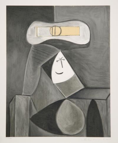 Femme Au Chapeau Gris, 36-5-Pablo Picasso-Premium Edition