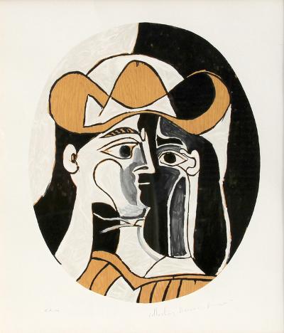 Femme au Chapeau, J-276-Pablo Picasso-Premium Edition