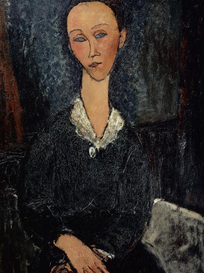 Femme au col blanc-Amedeo Modigliani-Giclee Print