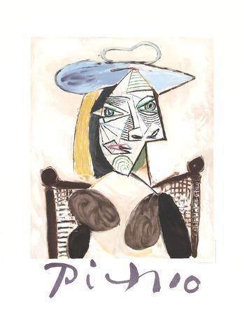 Femme au Fauteuil Canne-Pablo Picasso-Collectable Print