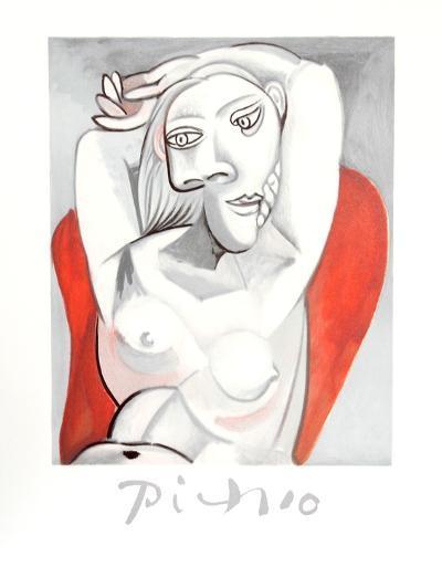 Femme au fauteuil rouge-Pablo Picasso-Collectable Print