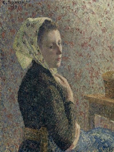 Femme au fichu vert-Camille Pissarro-Giclee Print