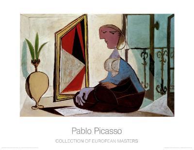 Femme au Miroir-Pablo Picasso-Art Print