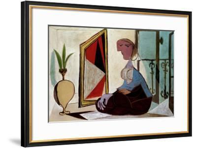 Femme au Miroir-Pablo Picasso-Framed Art Print