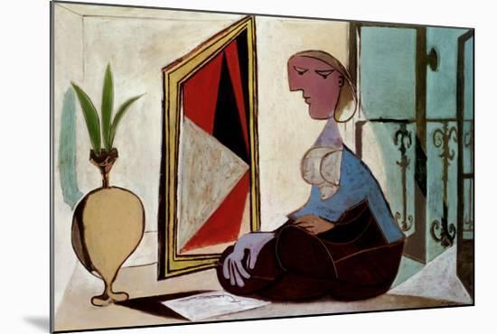 Femme au Miroir-Pablo Picasso-Mounted Art Print