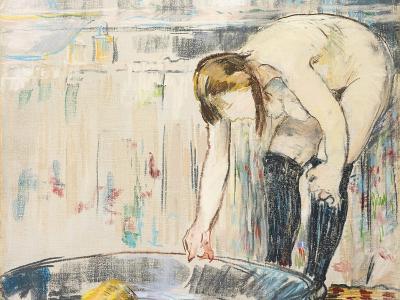 Femme Au Tub-Edouard Manet-Giclee Print