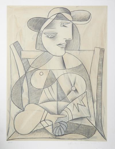 Femme aux Mains Jointes (Marie-Therese), J-3-Pablo Picasso-Premium Edition