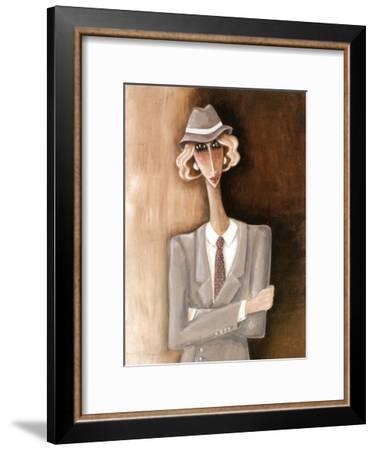 Femme Blonde-Véronique Didier-Laurent-Framed Art Print