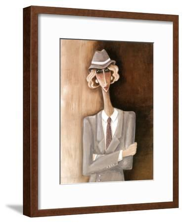 Femme Blonde-Véronique Didier-Laurent-Framed Art Print