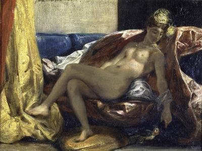 Femme Caressant Un Perroquet-Eugene Delacroix-Giclee Print