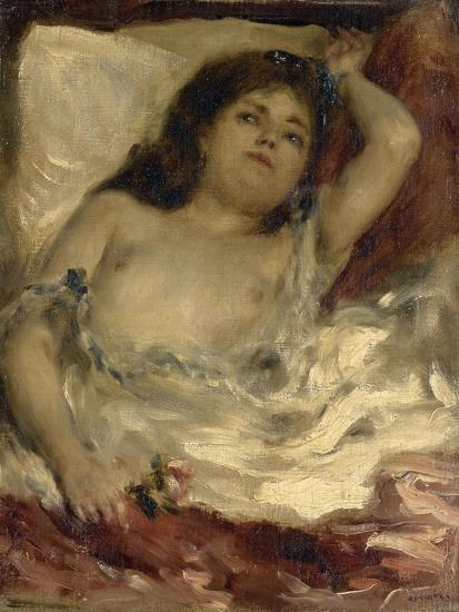 Renoir, Pierre-Auguste | 4347 Artworks | MutualArt |Femme Nue Couchee
