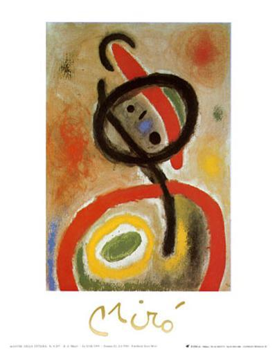 Femme III, c.1965-Joan Mir?-Art Print