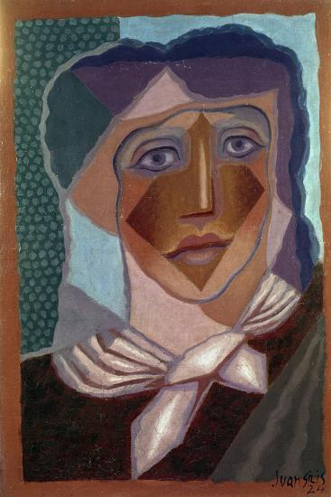 Femme ? L'?charpe (Woman with Neck Scarf), 1924-Juan Gris-Giclee Print