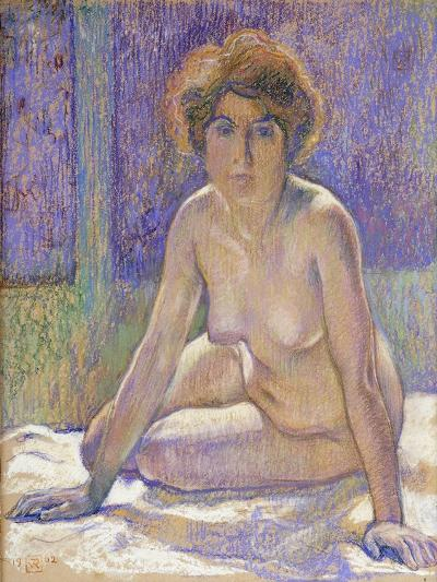 Femme Nue Assise-Theo Rysselberghe-Giclee Print