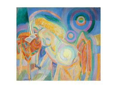 Femme Nue Lisant (Nude Woman Reading)-Robert Delaunay-Giclee Print