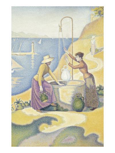 Femmes au puits, ou Jeunes Provençales au puits-Paul Signac-Giclee Print