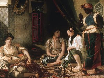 Femmes D'Alger Dans Leur Appartement (Women of Algiers in their Apartment) C. 1834-Eugene Delacroix-Giclee Print
