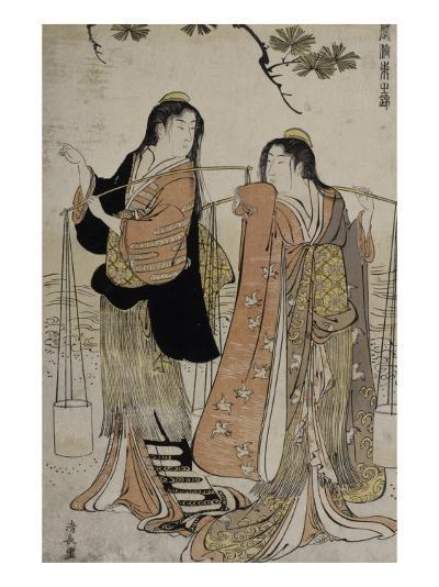 Femmes des marais salants-Torii Kiyonaga-Giclee Print