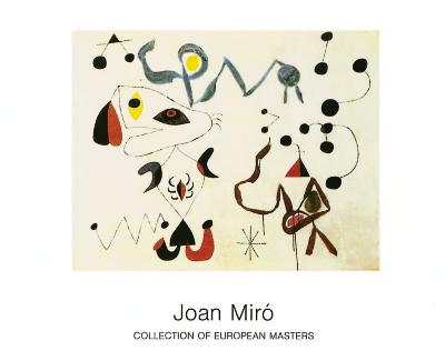 Femmes et Oiseau la Nuit, 1945-Joan Mir?-Art Print