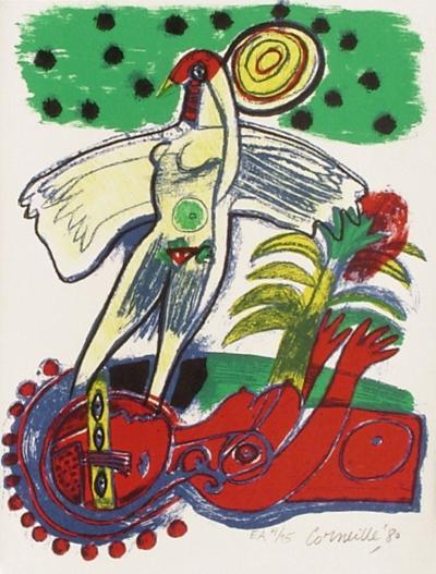Femmes et oiseaux 1-Guillaume Corneille-Collectable Print