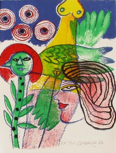Femmes et oiseaux 2-Guillaume Corneille-Collectable Print