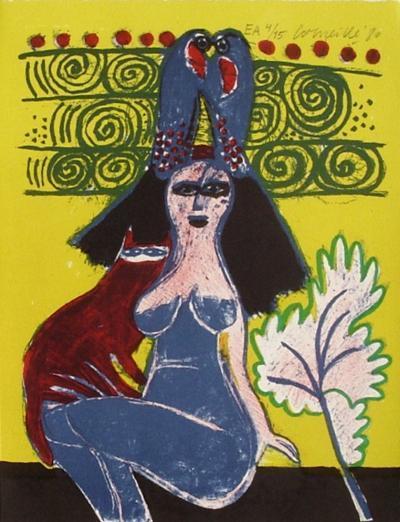 Femmes et oiseaux 7-Guillaume Corneille-Collectable Print