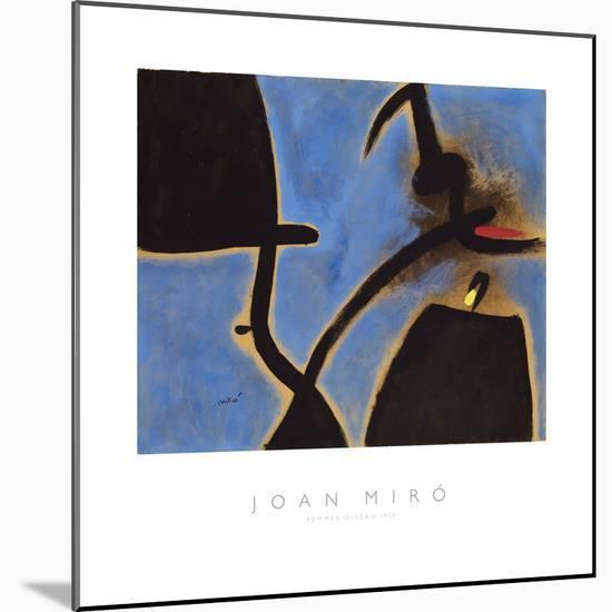 Femmes, Oiseau, 1973-Joan Miro-Mounted Giclee Print