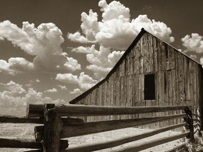 Fence and Barn-Aaron Horowitz-Photographic Print
