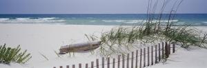 Fence on the Beach, Alabama, Gulf of Mexico, USA