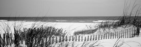 Fence on the Beach, Bon Secour National Wildlife Refuge, Gulf of Mexico, Bon Secour--Photographic Print