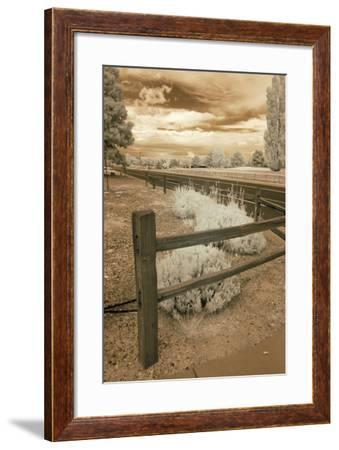 Fence & Road, Albuquerque, New Mexico 06-Monte Nagler-Framed Photographic Print