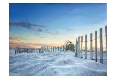 Fenced Sunset-Joseph Rowland-Art Print