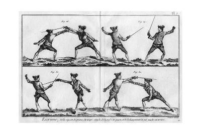 Fencing Positions--Giclee Print