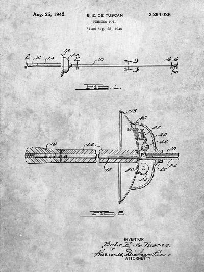 Fencing Sword Patent-Cole Borders-Art Print