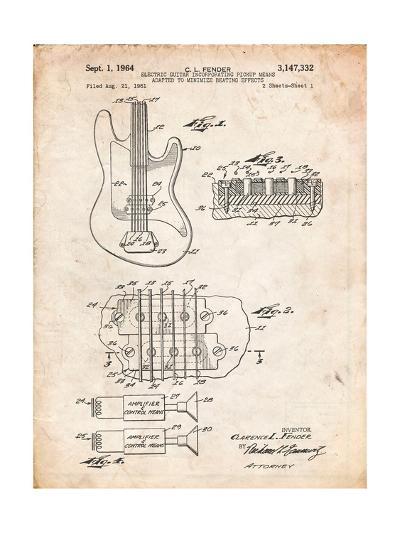 Fender Guitar Pickups Patent-Cole Borders-Art Print