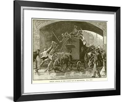 Fenian Attack on the Police Van in Manchester--Framed Giclee Print