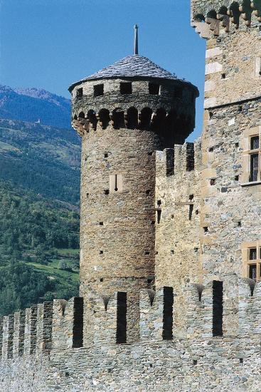 Fenis Castle, Aosta, Valle D'Aosta, Italy--Giclee Print