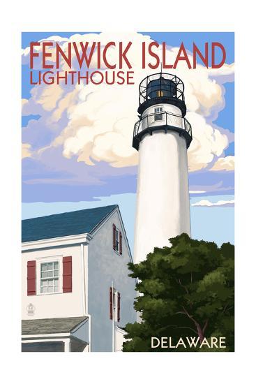 Fenwick Island, Delaware - Lighthouse-Lantern Press-Art Print