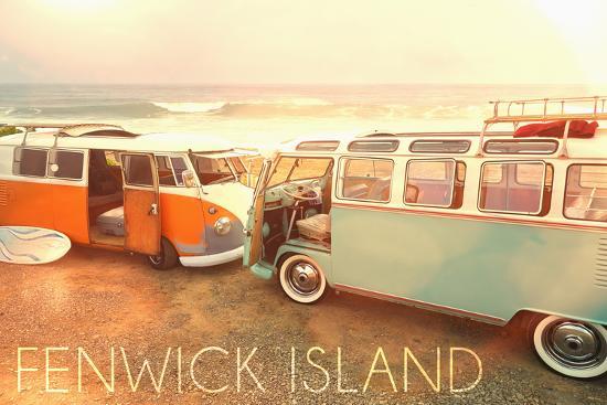 Fenwick Island, Delawares on Beach-Lantern Press-Wall Mural