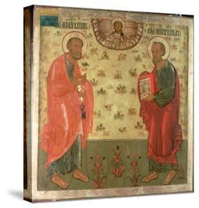 Apostles Peter and Paul, 1708 by Feoktist Klimentov