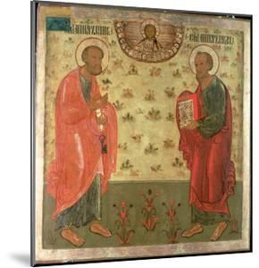 Apostles Peter and Paul, 1708 by Feoktist Klimentov